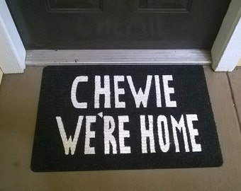 Chewie We're Home Welcome Mat