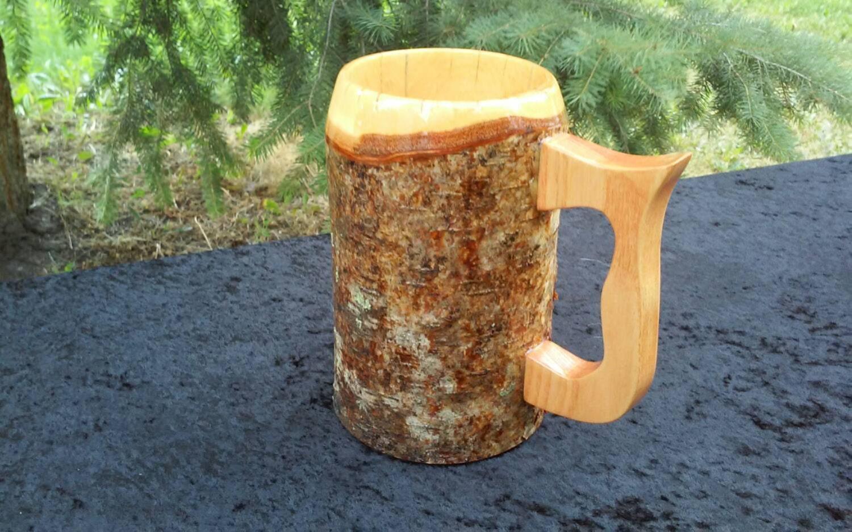 Wooden Beer Mug Beer Stein Sca Tankard Medieval Mug Viking