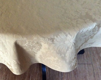 54in Damask round tablecloth