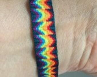 Tribal Bracelet - Friendship bracelet - Woven bracelet -  Rainbow bracelet - card weaving bracelet  252
