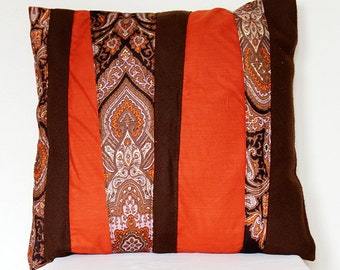 Pillow cover with two vintage neckties
