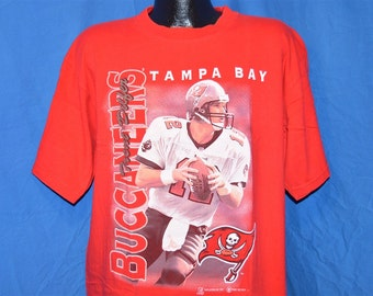 90s Tampa Bay Buccaneers Bucs Trent Dilfer Red Vintage t-shirt Extra-Large