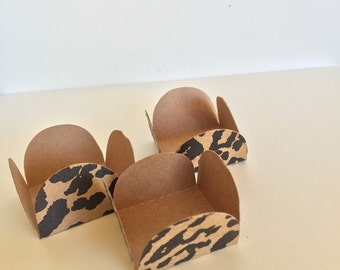 24 Animal Print  Cake Ball - Cake Pop - Chocolate truffle wrapper papers, liners or favor box.