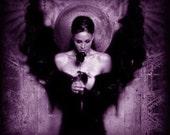 Imbued Handmade Violet Flame Archangel Bead Bracelet By BluJay76