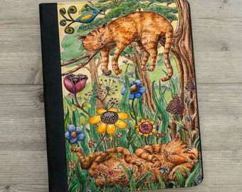 iPad - iPad mini - iPad Air - Case - Lazy Sunday - Ginger - Cats - Art - Watercolour