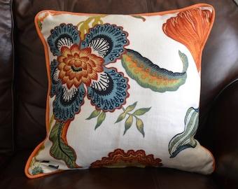 18x18 Celerie Kemble Hothouse Flowers Pillow Cover