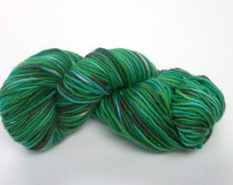 Hand dyed wool yarn worsted weight 170 yds.