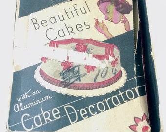 Vintage Aluminum Cake Decorator in Orginal Advertising Box