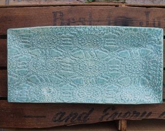 Aqua Tray - Serving Platter - Stoneware - Plate