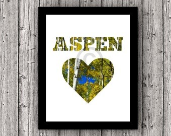 Aspen's aspens - An image reminder of this amazing Colorado mountain town - Printable Nature Decor, 8 x 10, Wall Art Digital Download