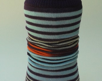 Colorful Striped Water Bottle Kozy