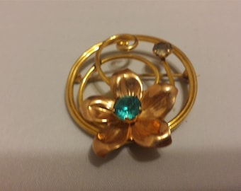 Van Dell Rose Gold and Gold Plated Brooch