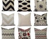 Burlap Pillows - Brown Decorative Pillow Cover - Black Pillow Cover - Brown Euro Sham - Brown Lumbar Pillow - Couch Pillow - Rustic Pillow