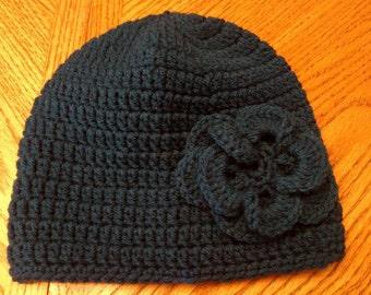 Woman's crocheted winter hat