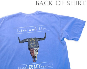 Live and Die in North Carolina Longhorn Skull, Assorted