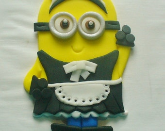 MINION MAID Edible Fondant Cake Decoration