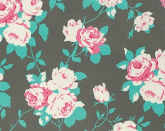 Tanya Whelan Fabric CHLOE -  Rose Vine in SKY for Free Spirit Fabric - Shabby Chic - Cottage Chic Floral - Fabric by the Yard - Half yard
