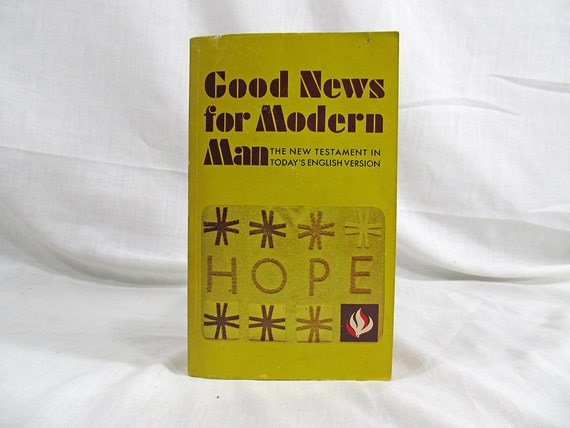 1971 Good News For Modern Man The New Testament in Today's English Version Bible Book Vintage Third Edition American Bible Society Yellow