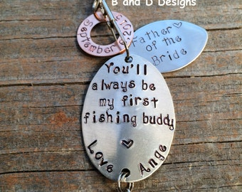 Perfect for Father of the Bride -  Father's Day Fishing lure - Anniversary- Personalized lure   Ships in 24 to 48 hours