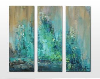 Triptichon / original abstract paintings