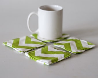 Set of 4 coasters, fabric coasters, cloth coasters, coasters, drinkware, coaster gift, wedding gift, housewarming gift