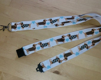Dachshund Ribbon Lanyard / ID Badge Holder