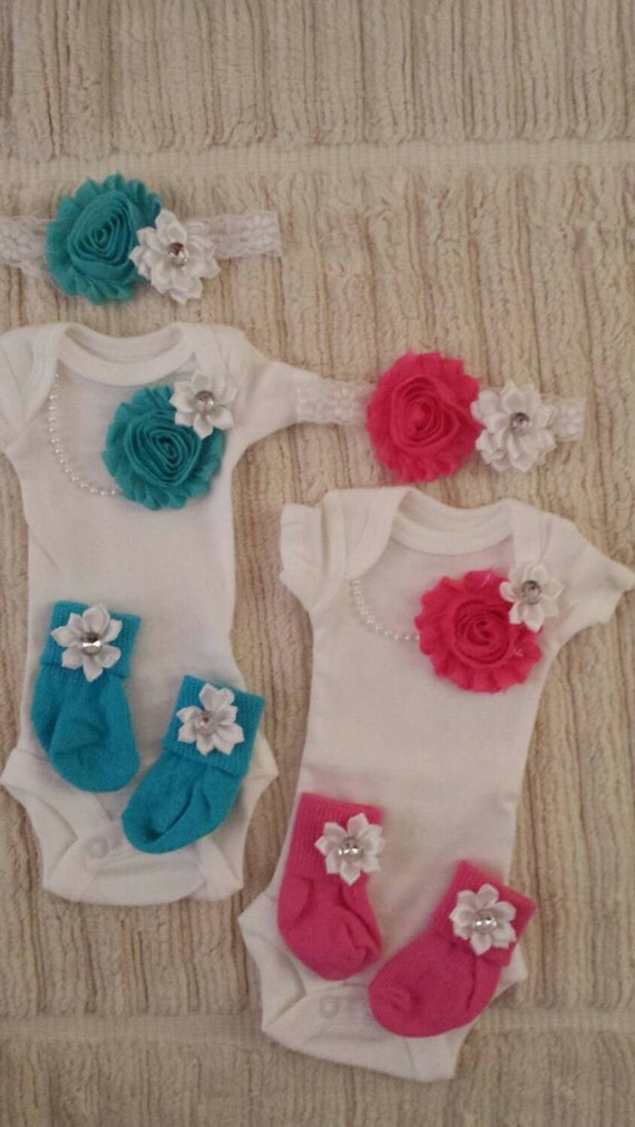 Preemie TWINS 6 PIECES Preemie baby girls Pink blue