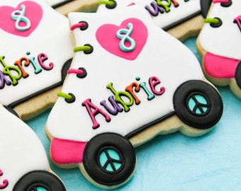 Colorful Skate Cookies