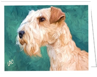 Lakeland Terrier - Set of 6 blank notecards and envelopes by DoggyLips