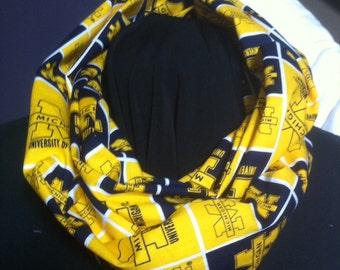 University of Michigan Wolverines Cotton Infinity Scarf