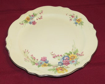 HOMER LAUGHLIN Dinner Plate Virginia Rose Bouquet 1949