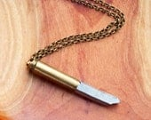 Bullet Necklace Long Crystal Necklace Men's Necklace Unizen Jewelry Quartz Necklace Quartz Boho Jewelry