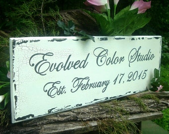 Custom Sign Name/ Date Sign Wood Sign  30 x 10