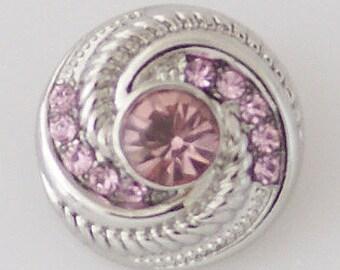 CZ Pink Pinwheel - Snap It SKB6171 Popper Chunk Snap Button Interchangeable 18mm 20mm snap
