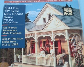Nutshell News Magazine. Back issue May 1995 used .  Dollhouse Miniature projects good