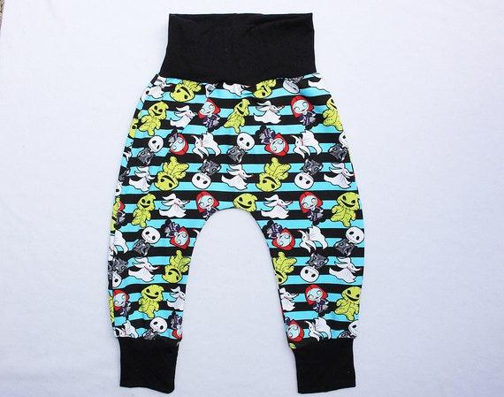 Nightmare Before Christmas Inspired Baby Boy Harem Pants Yoga Waist 2T ...