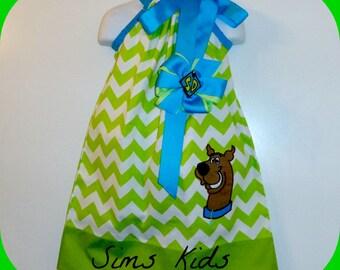 Custom  Scooby Do Wave Pillowcase Dress Size 2t 3t 4t 5t 6 8