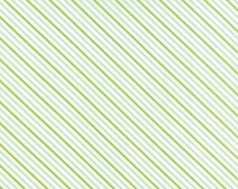 Hello Darling Summer Stripe Green Aqua Fabric by Bonnie and Camille for Moda Fabrics