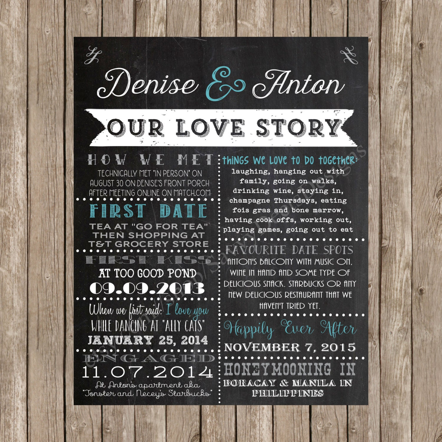 Our Love Story Wedding Idea: Wedding Love Story Sign Our Love Story Chalkboard Wedding