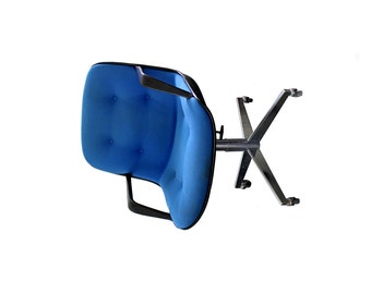 Vintage Blue Steelcase 451 Rolling Office Chair