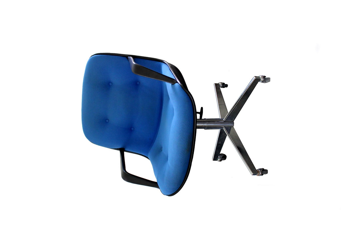 Vintage Blue Steelcase 451 Rolling fice Chair