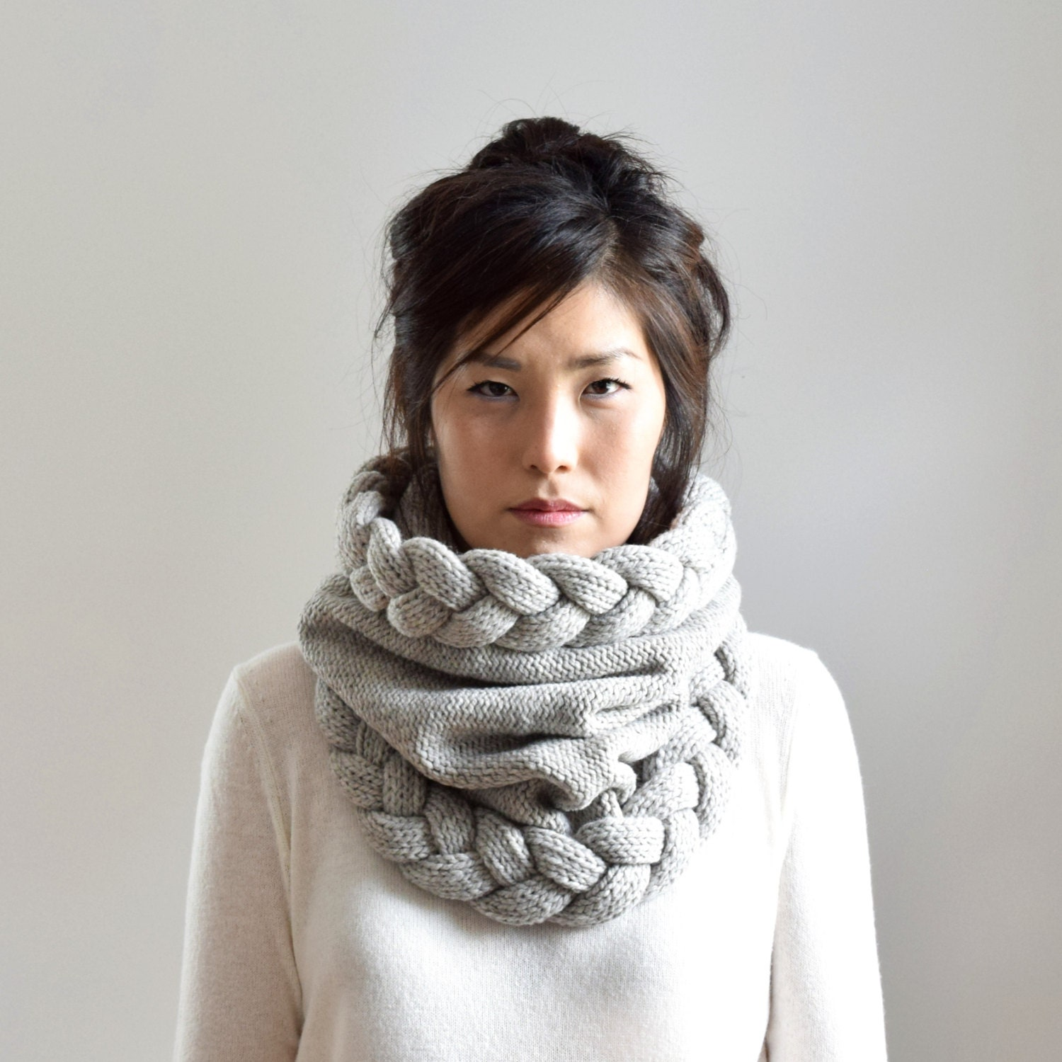The Through Thick and Thin Scarf is the delicately light knitted scarf great for the warmer months. Using primarily garter stitch knitting, you only need to know how to knit in short rows to successfully complete this easy knit scarf pattern.