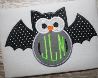 Owl Bat Monogram