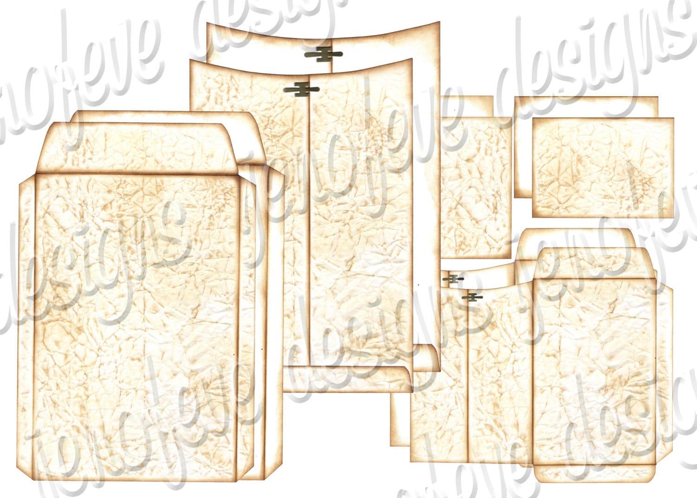 6x9 printable envelope album old paper plain templates. Black Bedroom Furniture Sets. Home Design Ideas