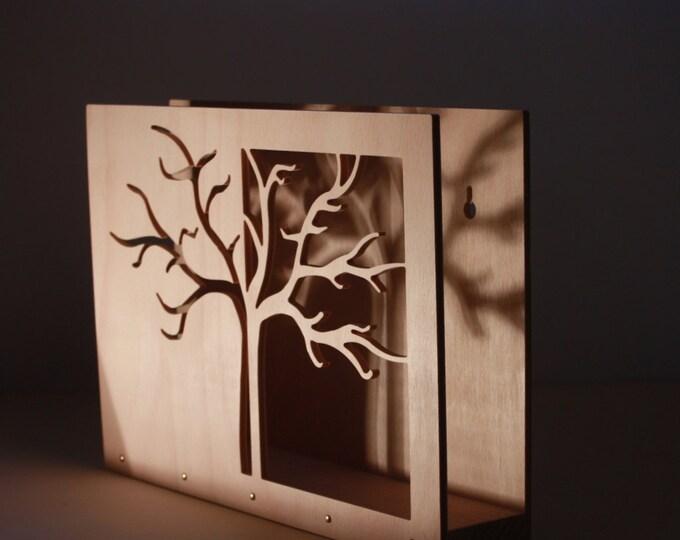 "Magazine rack, wall magazine holder ""Tree II."""