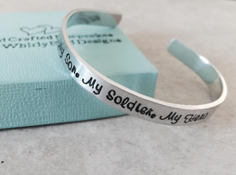 Sale My Son My Soldier My Hero Personalized Cuff Bracelet