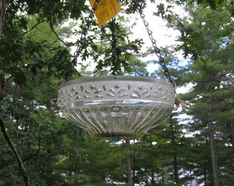 Hanging  Bird Feeder/ Bird Bath, Re-Purposed, Up-Cycled, Unique, Garden Art, Outdoor Decor,Gift,  Nature, Eclectic, One of a Kind