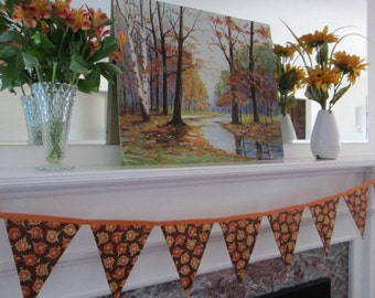 sunflower banner, fall bunting, autumn bunting, fall banner, sunflower bunting, reusable autumn decoration, porch bunting