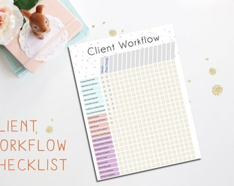Client Workflow Chart - Photography Business Tool - Instant Download - Client Forms - Photography Workflow - Photography Organization