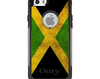 OtterBox Commuter for Apple iPhone 5S SE 5C 6 6S 7 8 PLUS X 10 - Custom Monogram - Any Colors - Jamaica Old Flag